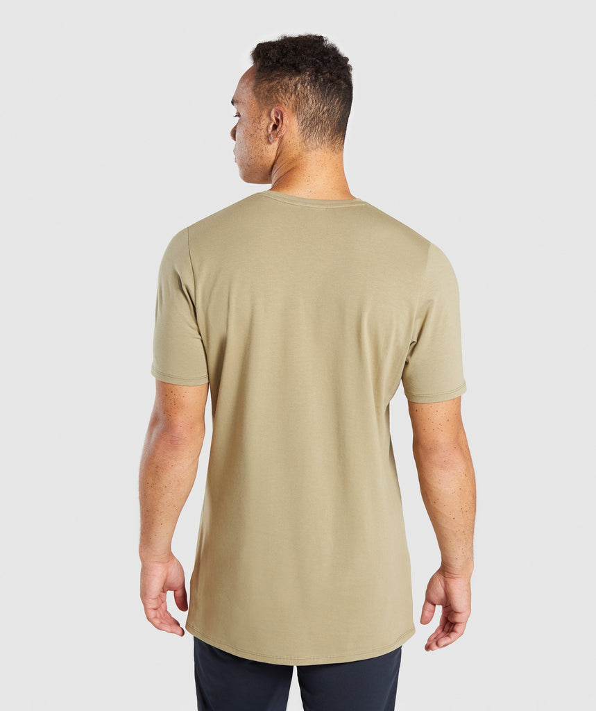 Gymshark Reverse T-Shirt - Light Khaki 2