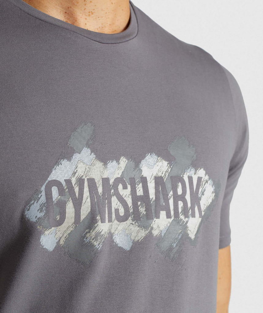 Gymshark Etch T-Shirt - Smokey Grey 5