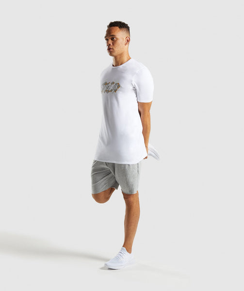 Gymshark Etch T-Shirt - White 3