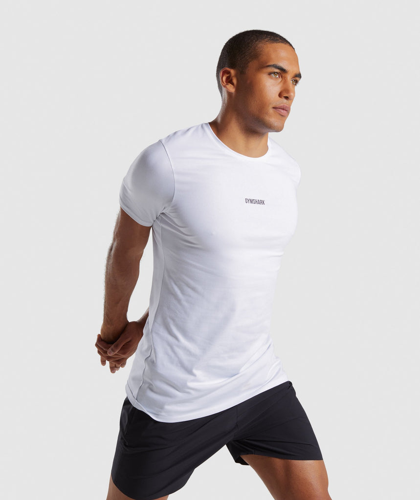 Gymshark Linear T-Shirt - White 1
