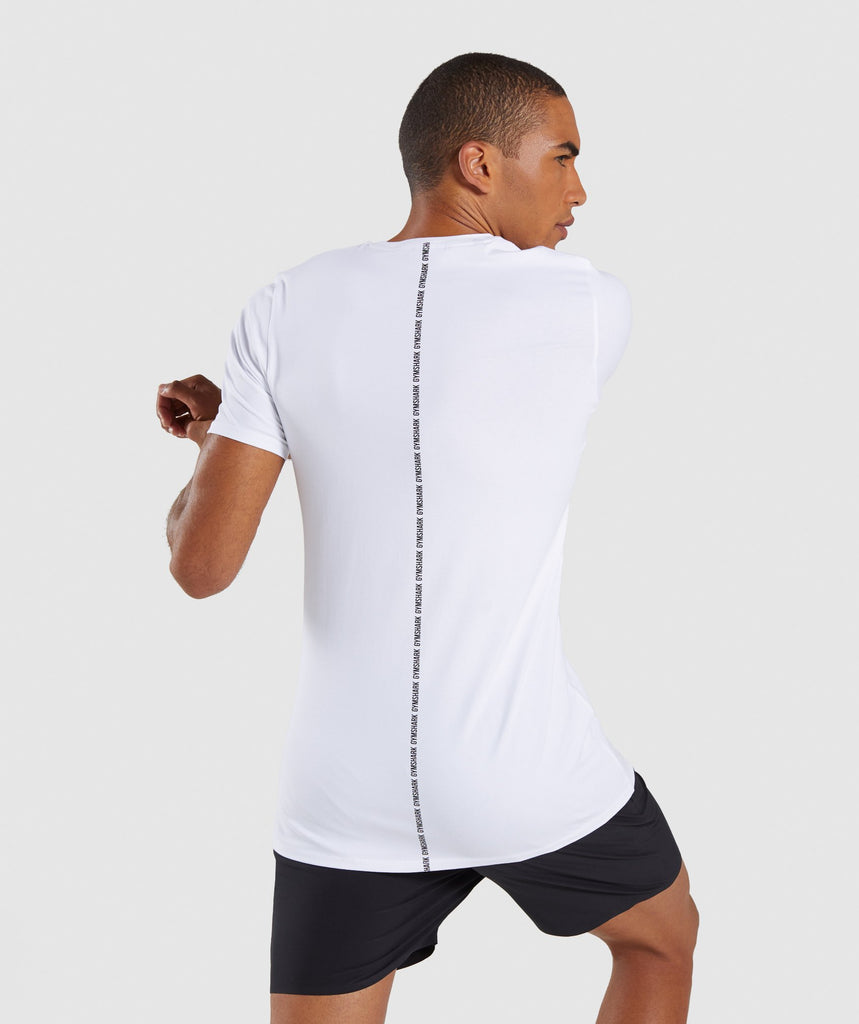 Gymshark Linear T-Shirt - White 2