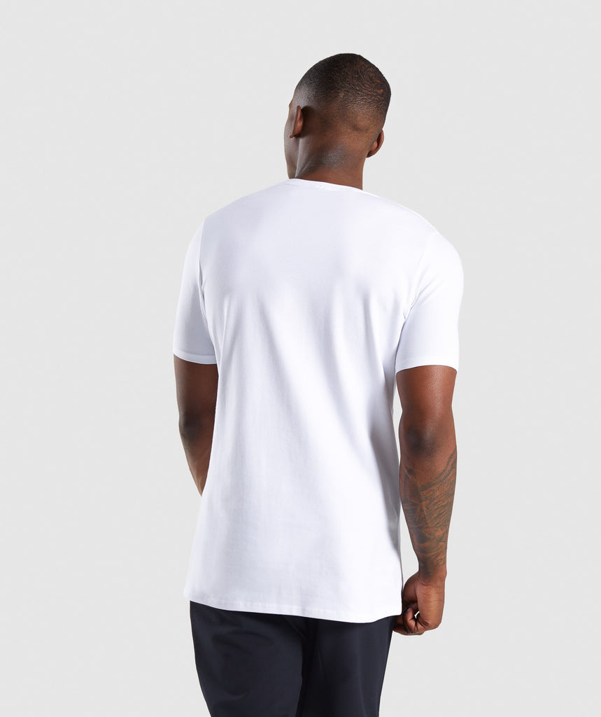 Gymshark Ascend T-Shirt - White 2