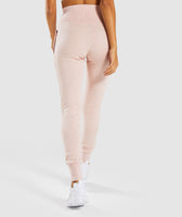 Gymshark High Waisted Joggers - Blush Nude Marl 8