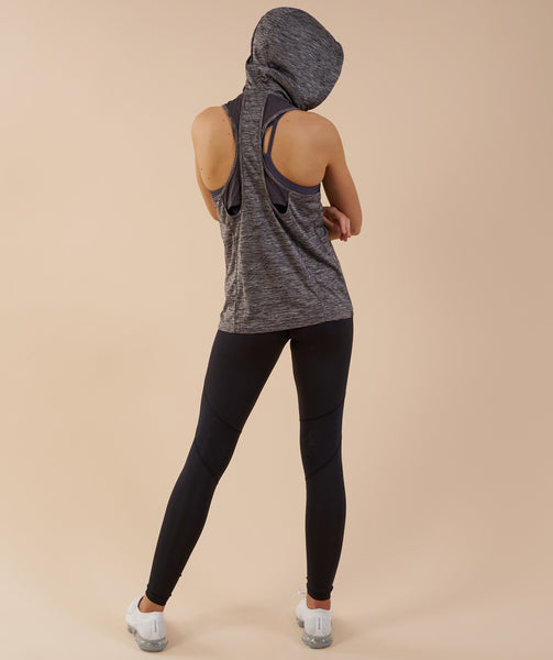 Gymshark Hooded Vest - Charcoal Marl 1
