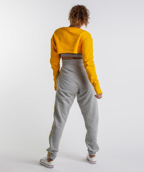 Gymshark Super Cropped Sweater - Citrus Yellow 2