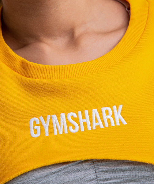 Gymshark Super Cropped Sweater - Citrus Yellow 3