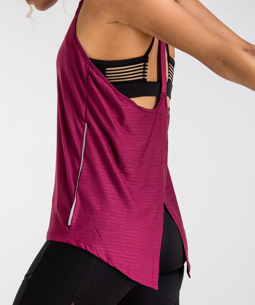 Gymshark T-Bar Vest - Deep Plum 4