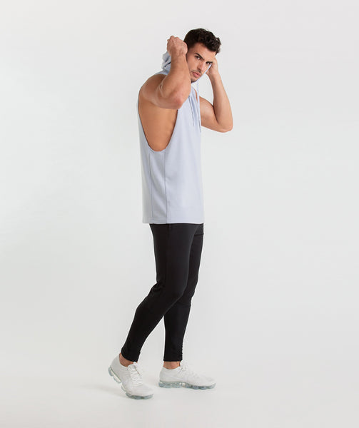 Gymshark Drop Arm Sleeveless Hoodie - Clear Water 2