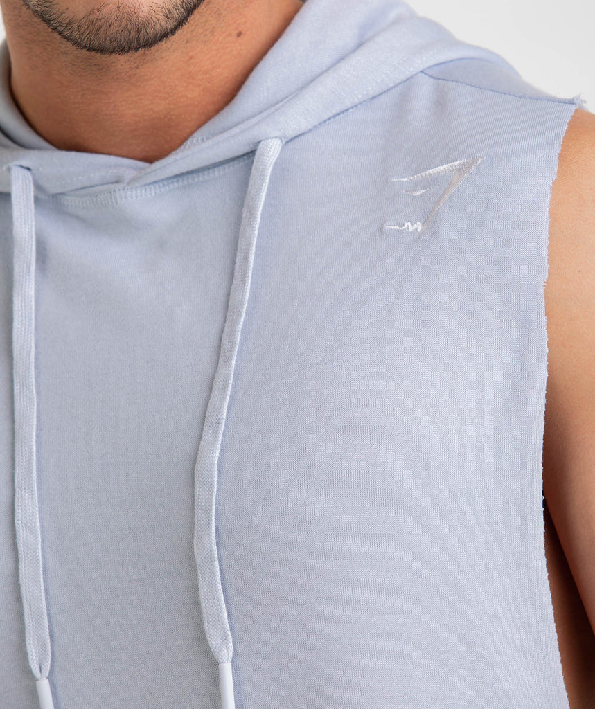 Gymshark Drop Arm Sleeveless Hoodie - Clear Water 6