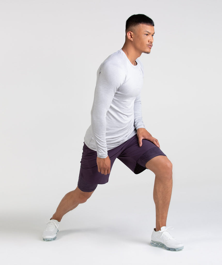Gymshark Perforated Two In One Shorts - Nightshade Purple 2