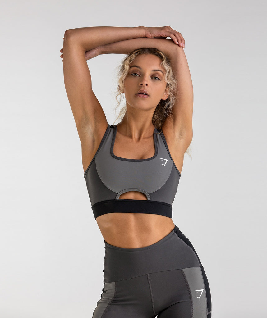 Gymshark Tonal Block Sports Bra - Black 1
