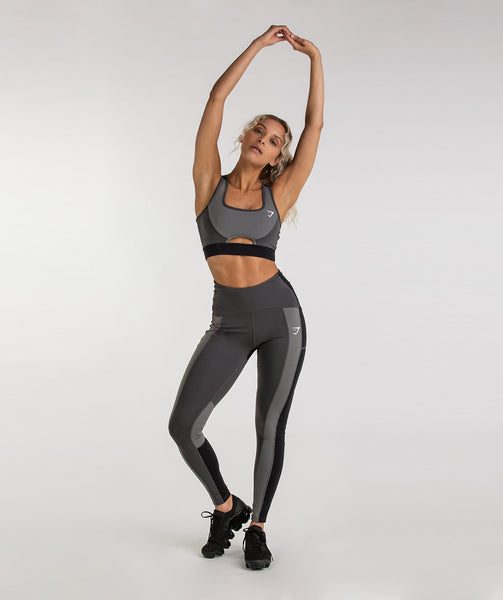 Gymshark Tonal Block Sports Bra - Black 3