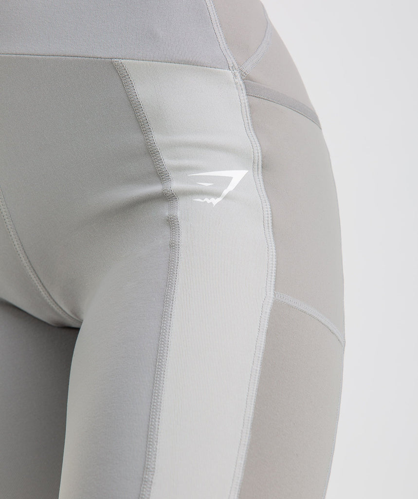 Gymshark Tonal Block Leggings - Light Grey 5