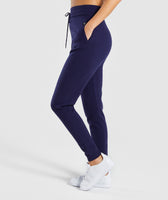 Gymshark Isla Knit Jogger - Evening Navy Blue 9