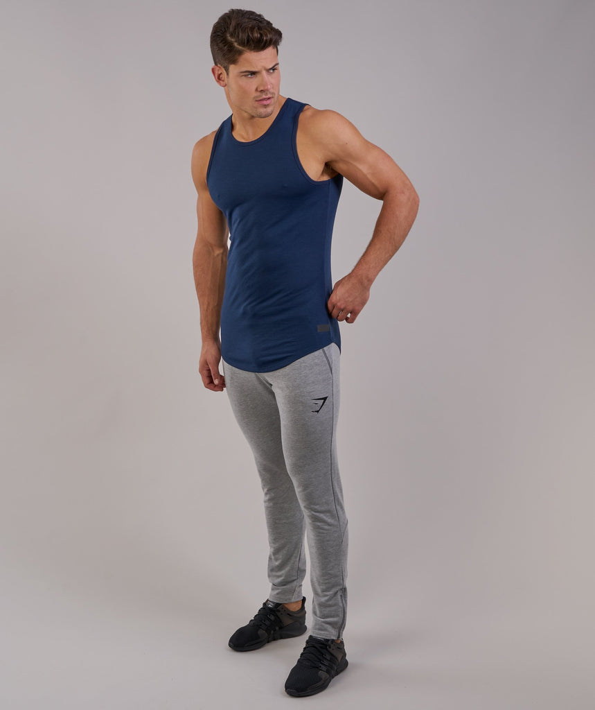 Perforated Longline Tank - Sapphire Blue