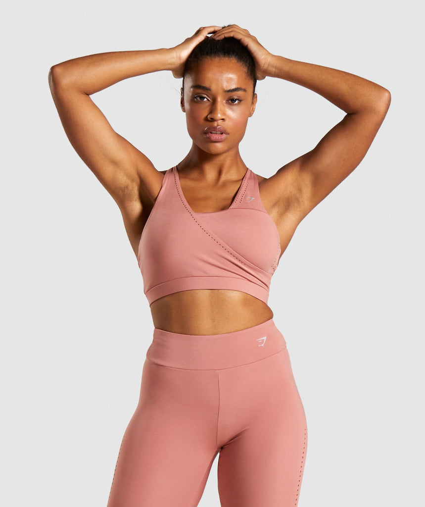 Gymshark Laser Cut Sports Bra - Blush 1