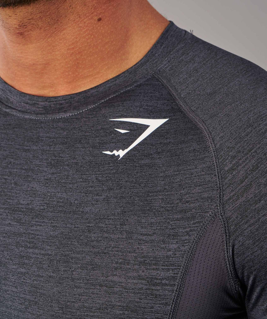 Gymshark Element Baselayer Long Sleeve Top - Charcoal Marl 5