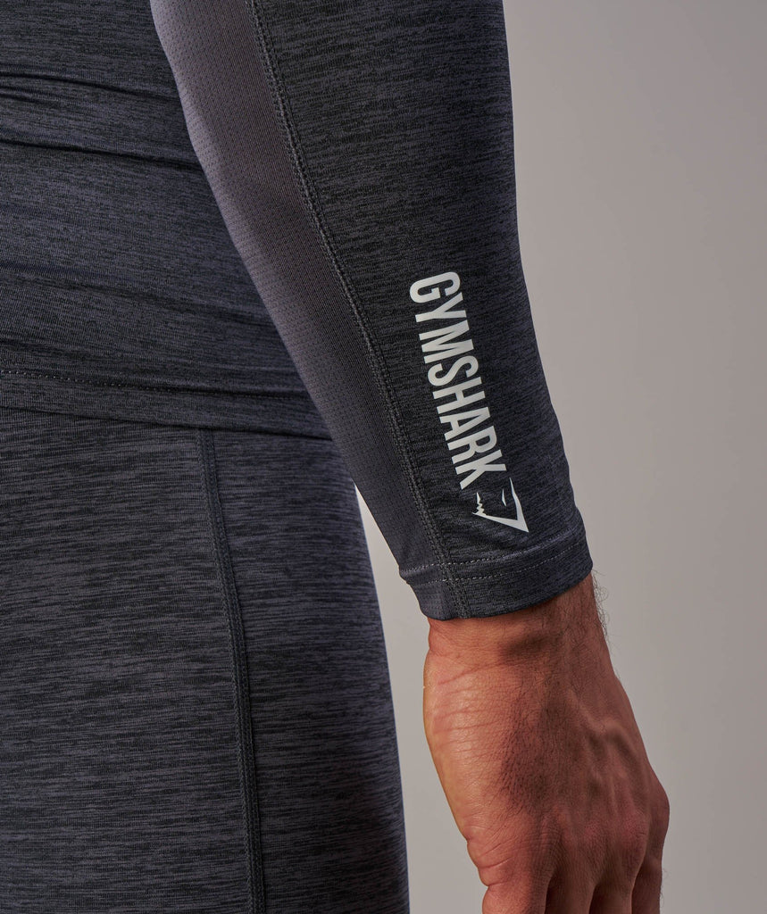 Gymshark Element Baselayer Long Sleeve Top - Charcoal Marl 6