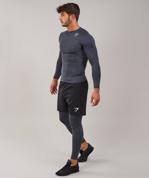 Gymshark Element Baselayer Long Sleeve Top - Charcoal Marl 3