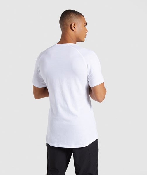 Gymshark Laundered Square Logo T-Shirt - White 1