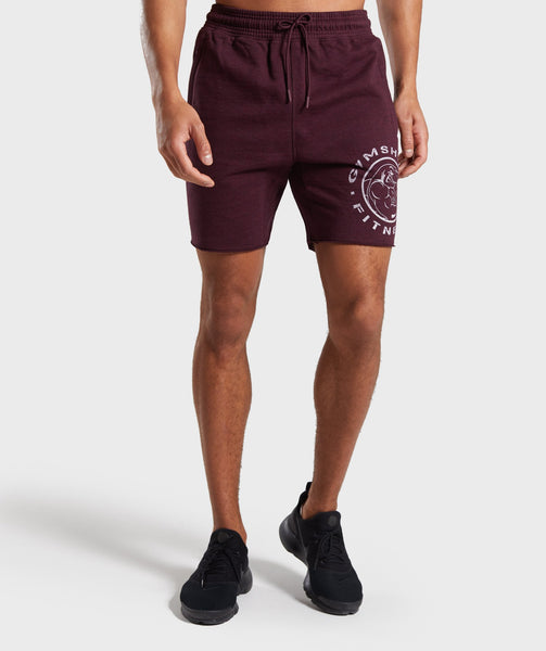 Gymshark Legacy Plus Shorts - Dark Red 4