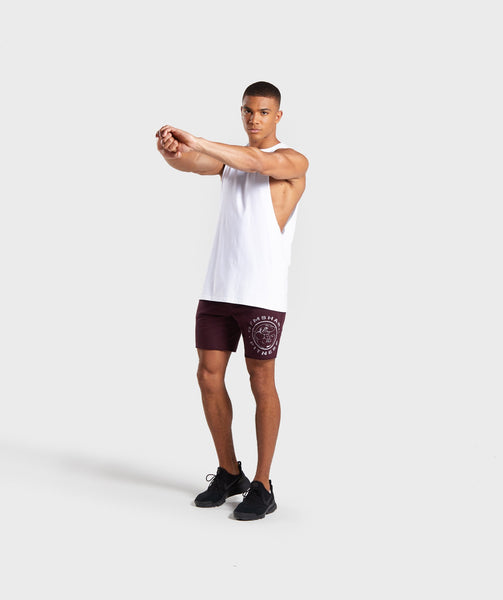 Gymshark Legacy Plus Shorts - Dark Red 3