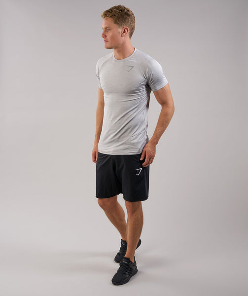Gymshark Apex T-Shirt - Light Grey Marl 2