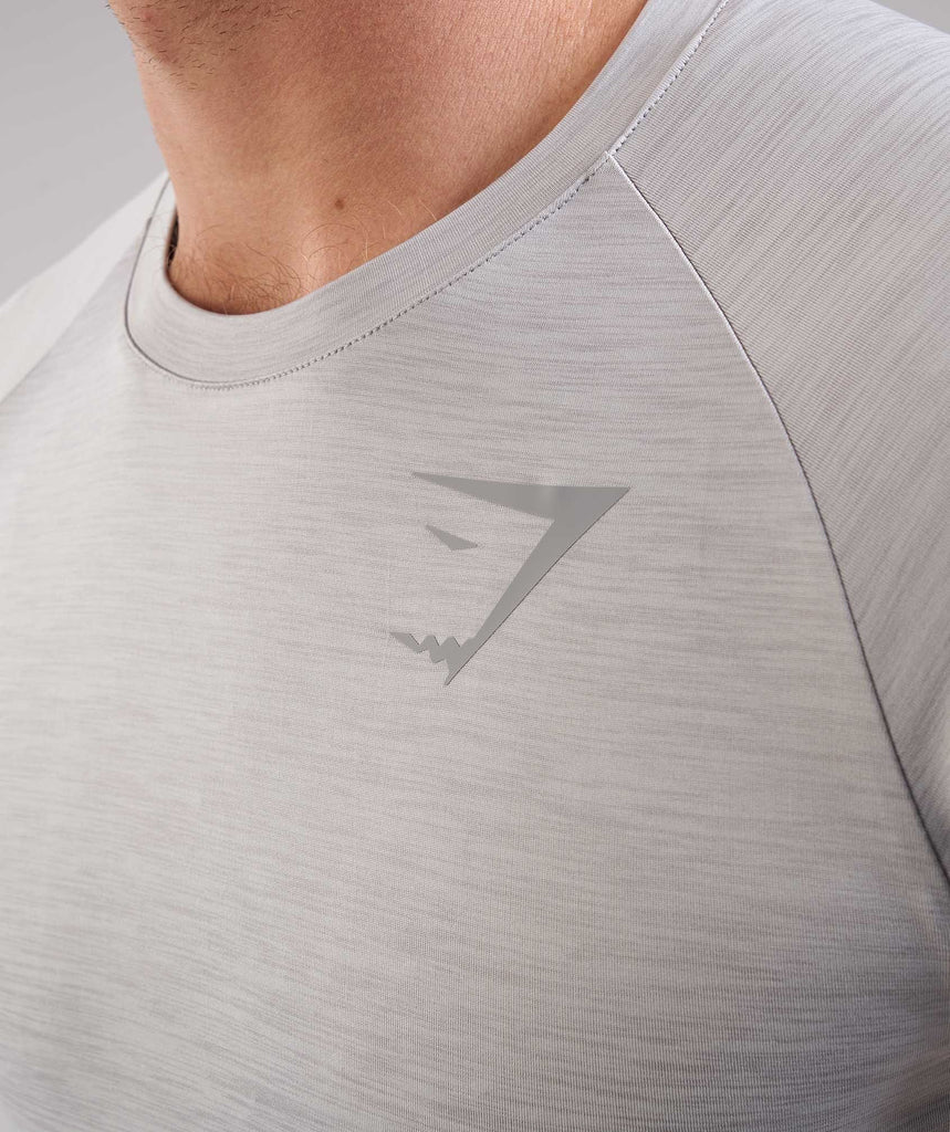 Gymshark Apex T-Shirt - Light Grey Marl 5