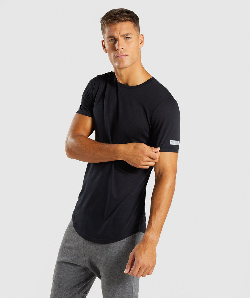 Gymshark Perforated Longline T-Shirt - Black 4