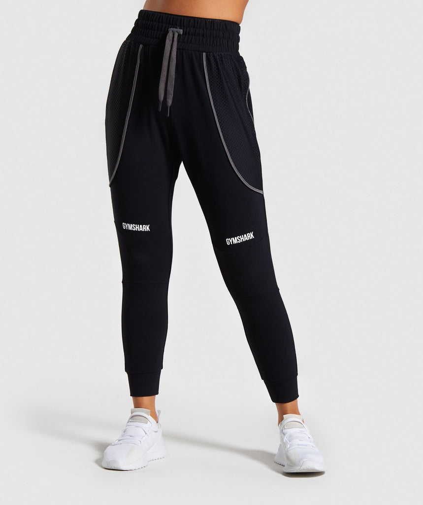 Gymshark Movement Mesh Joggers - Black 1