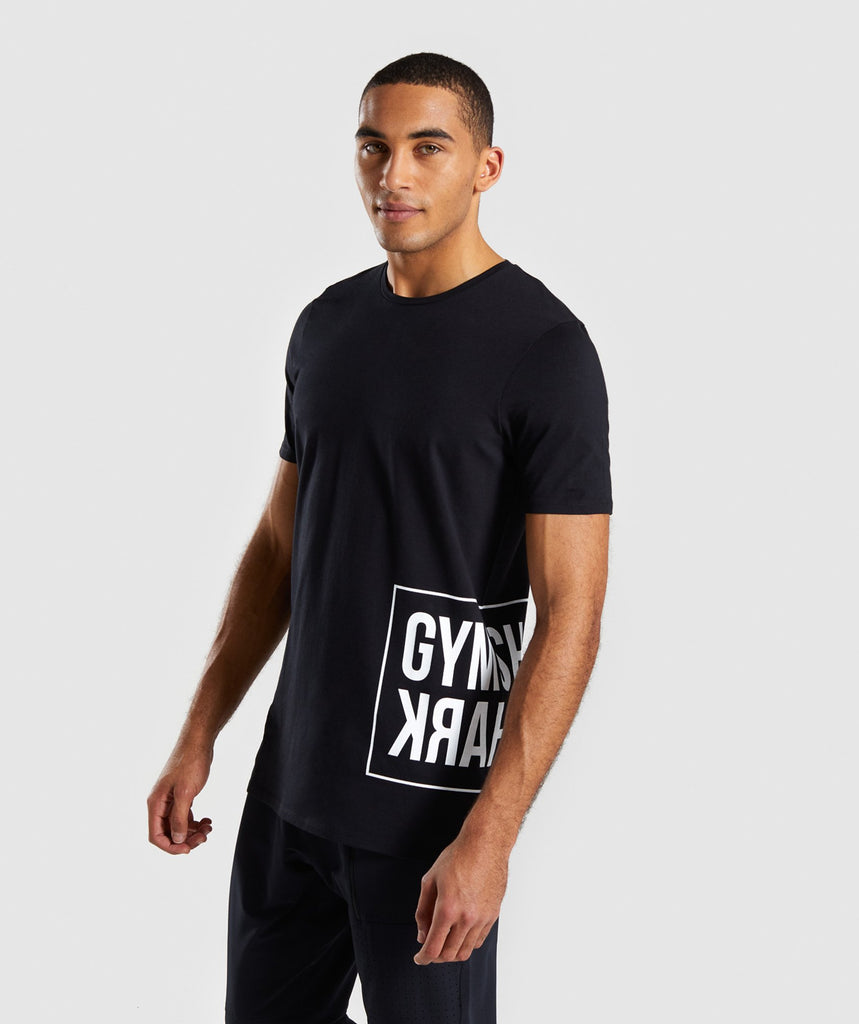 Gymshark Mirror T-Shirt - Black 1