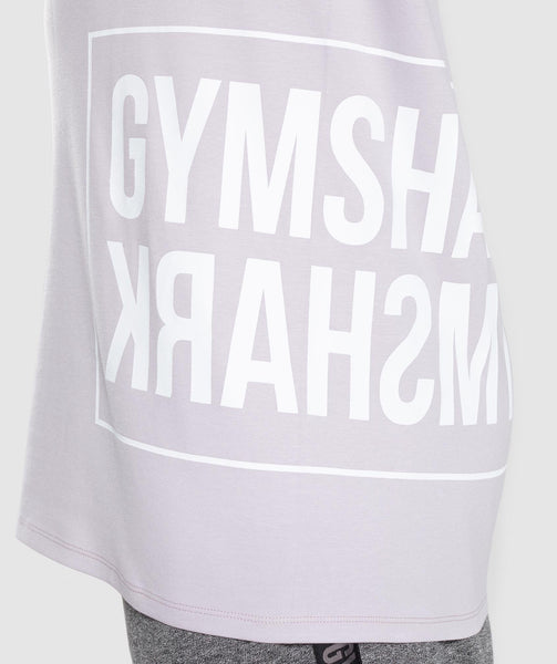 Gymshark Mirror T-Shirt - Purple Chalk 4
