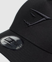 Gymshark New Era Mesh Trucker - Black/Black 9