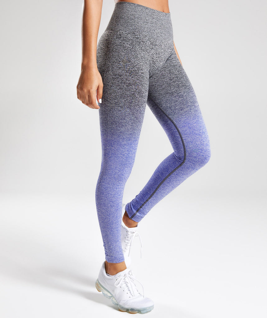 Gymshark Ombre Seamless Leggings - Indigo/Black 1