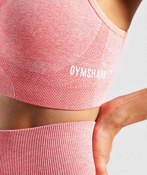Gymshark Ombre Seamless Sports Bra - Peach Coral 4