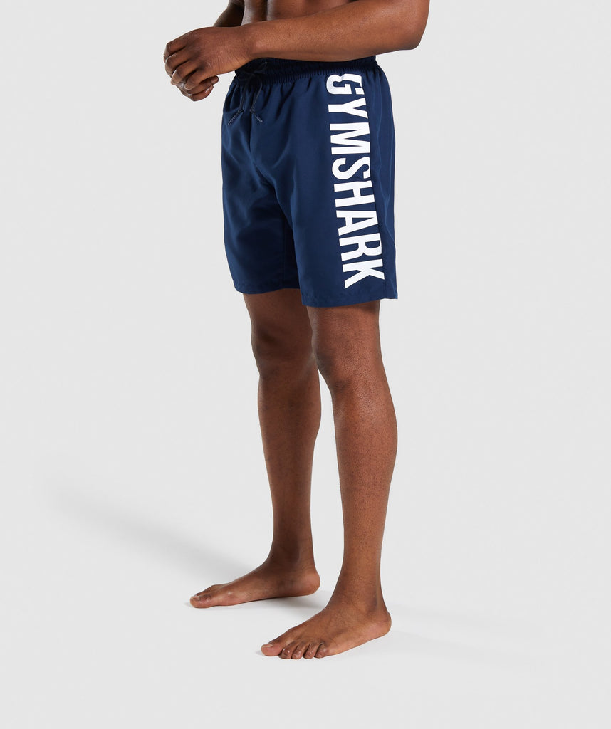 Gymshark Oversized Logo Board Shorts - Blue 1