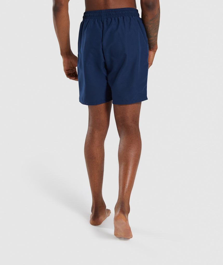 Gymshark Oversized Logo Board Shorts - Blue 2