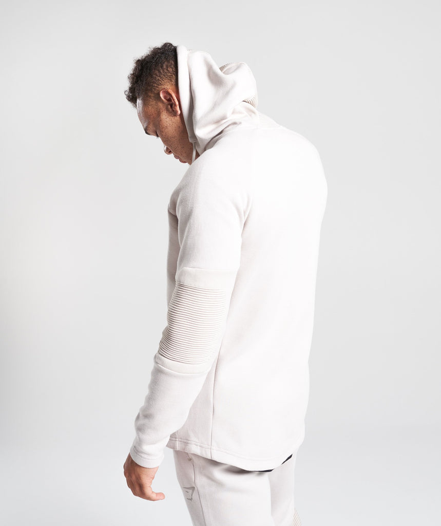 Gymshark Ozone Zip Up Hoodie - Washed Beige 2