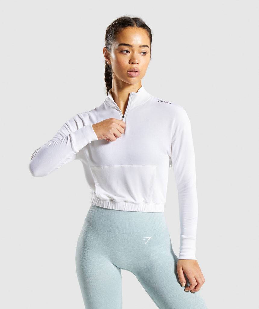 Gymshark Pippa Training Pullover - White 1