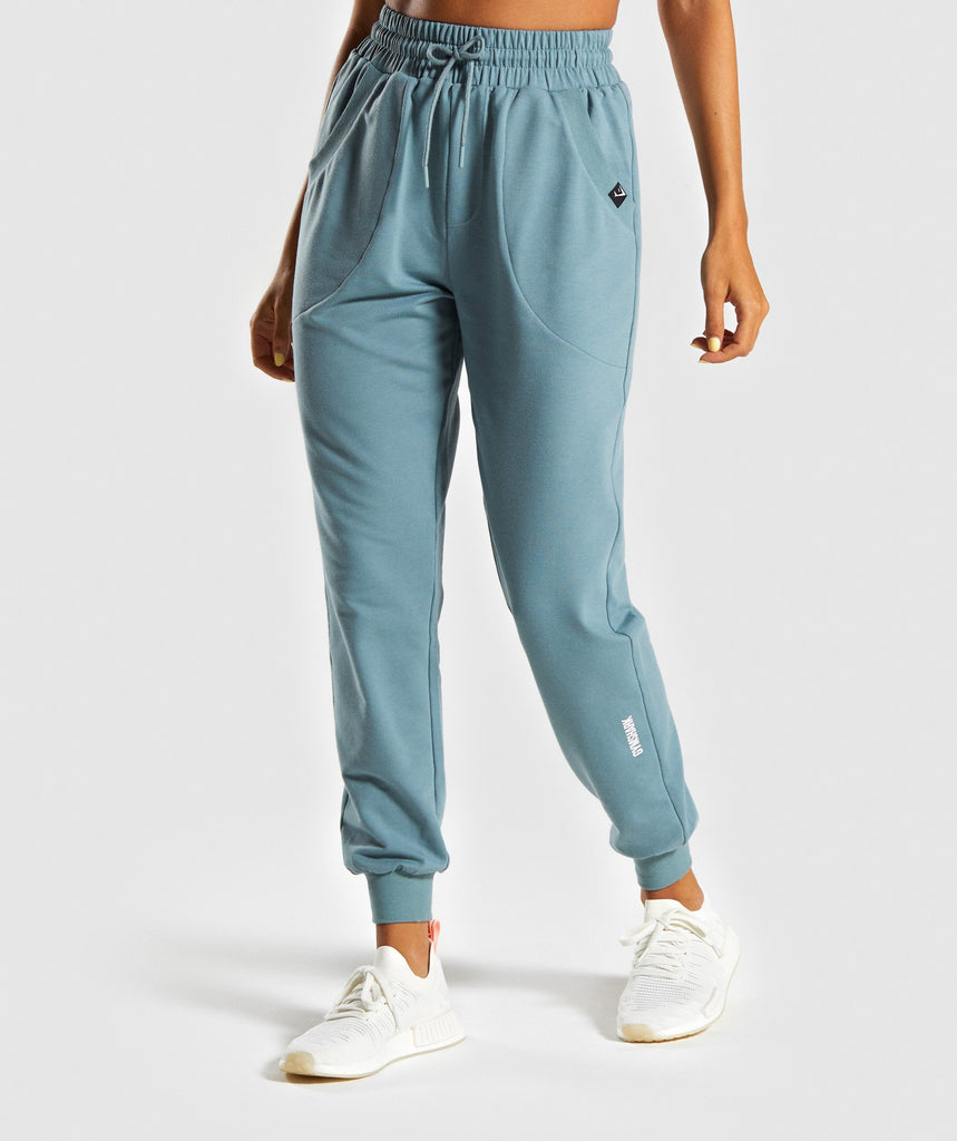 Gymshark Power Down Joggers - Turquoise 1