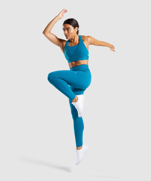 Gymshark Pace Running Leggings - Deep Teal 3