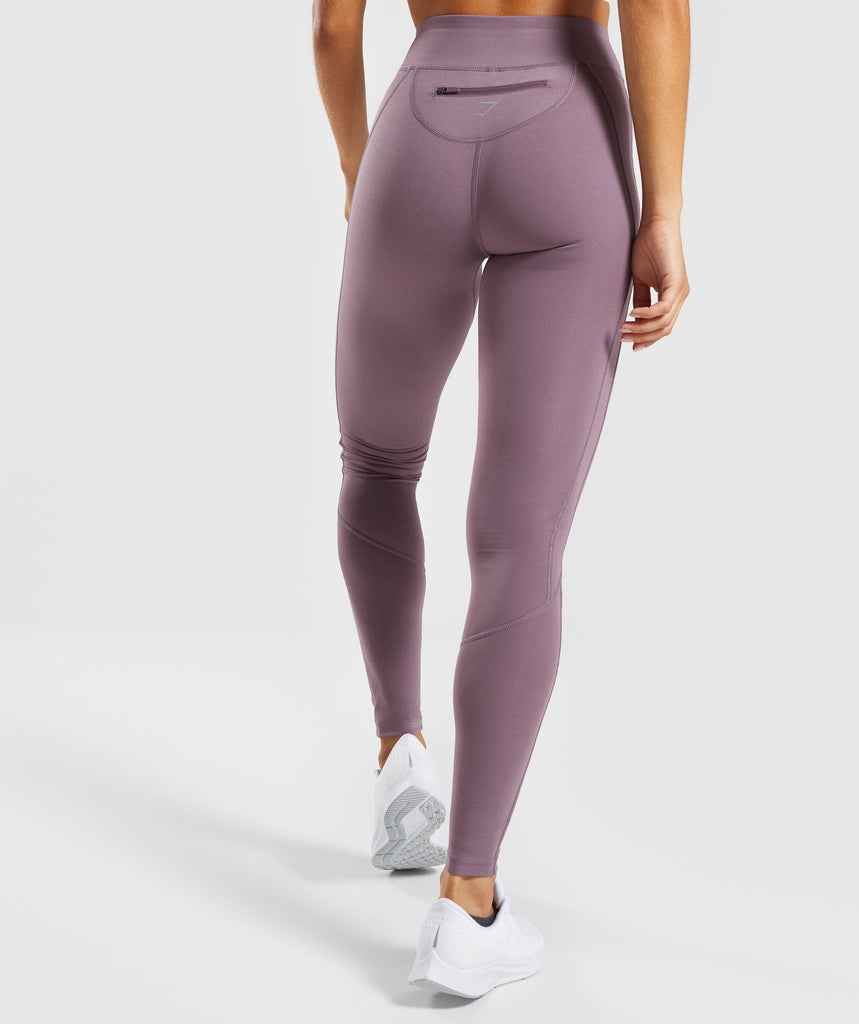 Gymshark Pace Running Leggings - Purple Wash 2