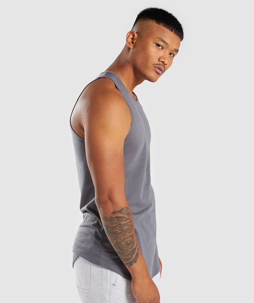 Gymshark Perforated Longline Tank - Smokey Grey 4