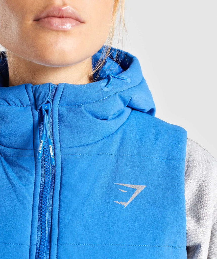 Gymshark Primary Puffer Gilet - Pop Blue 5