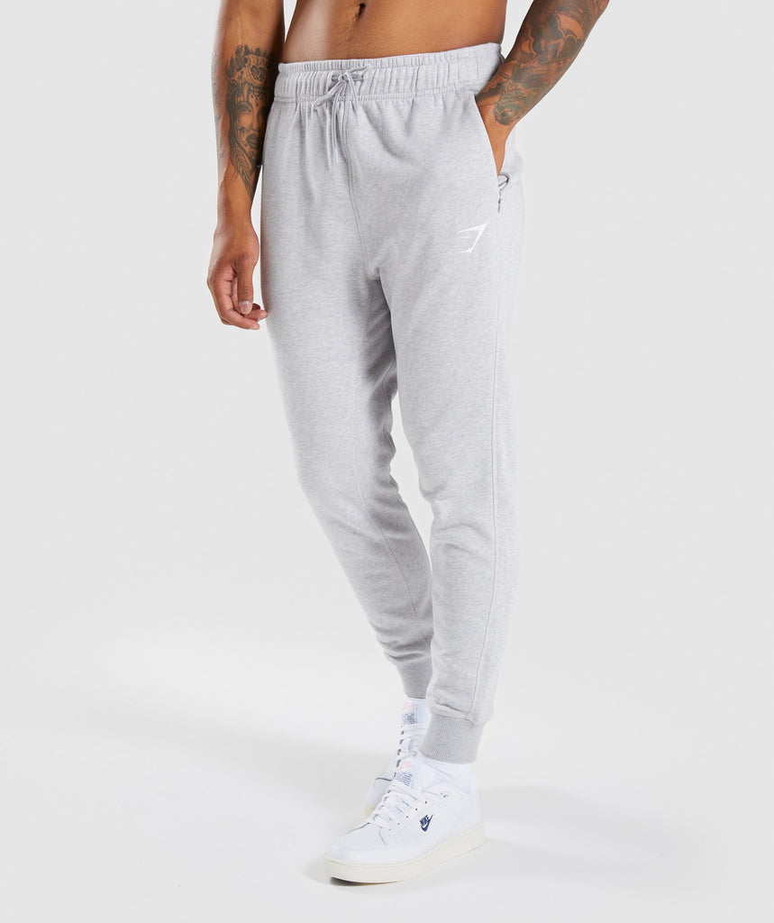 Gymshark Principle Bottoms - Light Grey Marl 1