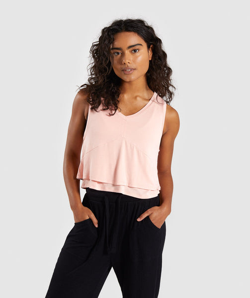 Gymshark Relaxed Crop Top - Washed Peach 2