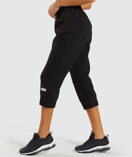 Gymshark Ruched Cropped Joggers - Black 2