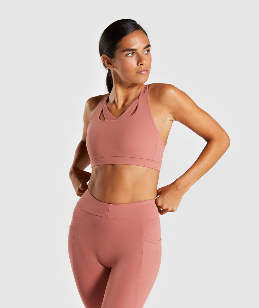 Gymshark Sculpt Sports Bra - Blush 1
