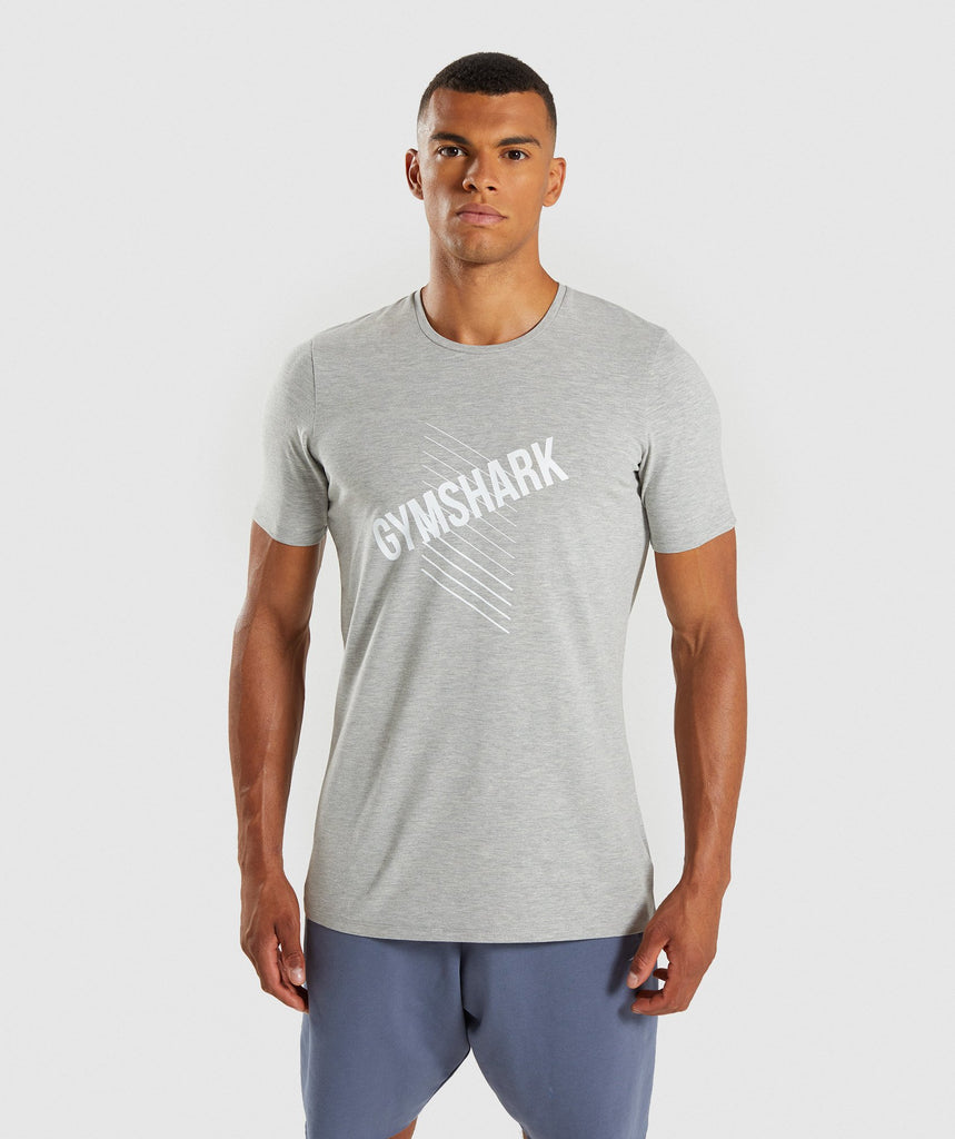 Gymshark Score T-Shirt - Light Grey Marl 1