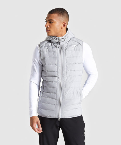 Gymshark Sector Gilet V2 - Light Grey 4